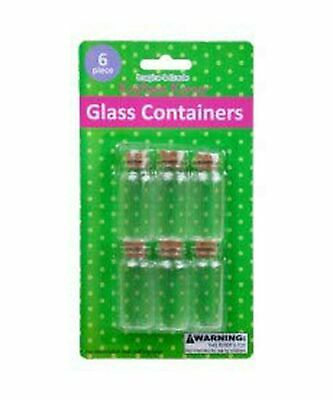 (Pack of 6, 36 Ct) Glass Containers with Cork Stopper X 6 Ct