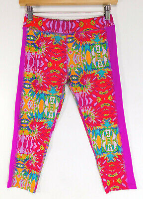 PUMA Tie Dye Athletic PANTS Activewear Bottoms Logo Leggings YOUTH LARGE (12-14)