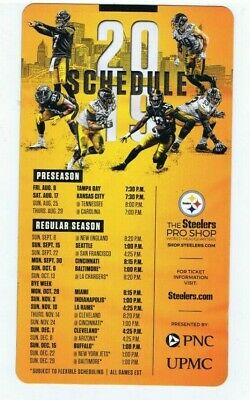 Pittsburgh Steelers 2019 Official Team Issued Schedule Magnet