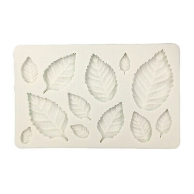 Silicone Rose Leaves Fondant Mould Cake Decor-Sugarcraft-Chocolate-Mold# S8Z0