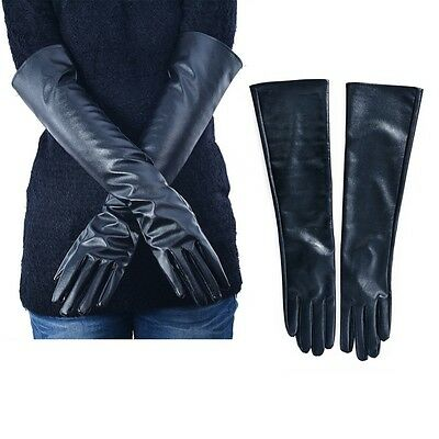 Winter Gloves For Ladies Women Long  Leather Touchscreen Elbow Length Party