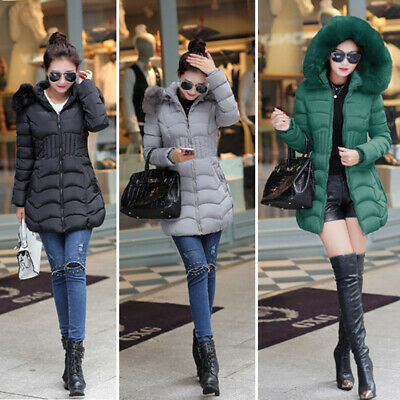 Parka Donna Invernale Piumino Lungo Trench Giacca Cappotto Hoodie Giubbotto Tops