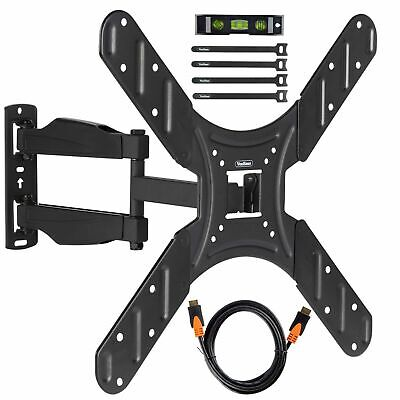"VonHaus 17-56"" Tilt & Swivel TV Wall Bracket Mount with HDMI, Cable Ties & Level"