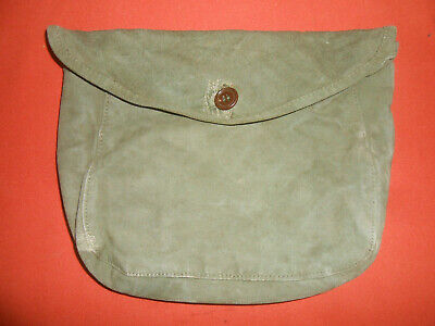 U.S.ARMY : WWI & WWII era M1910 CANVAS HAVERSACK MESS KIT MEAT CAN POUCH used