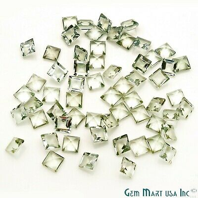 Green Amethyst AAA Natural Square Loose Stones Jewelry Setting Stone Ring Stone