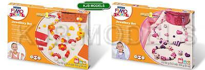 Fimo Kids Jewellery Set - Fimo Kids Soft Oven Bake Clay - Choose From 2 Sets