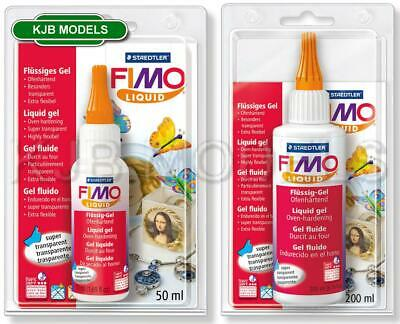 FIMO TRANSPARENT LIQUID DECO GEL OVEN HARDENING FOR POLYMER CLAY (50ml or 200ml)