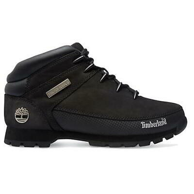 Timberland Euro Sprint Hiker Mens Black Leather Ankle Boots Size UK 7-11