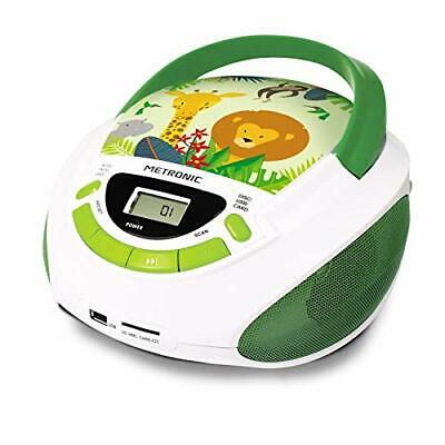 Kids Portable Cd Player Stereo Boombox Fm Radio Mains Or Battery Usb Mp3 Aux In