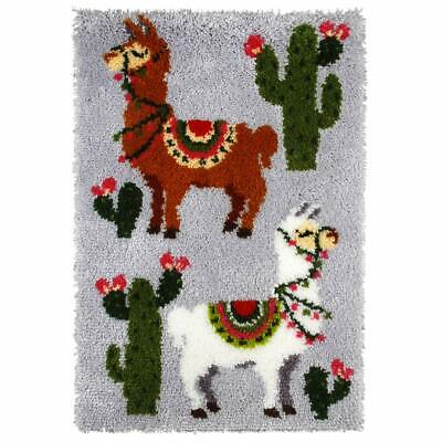Llama Pair Latch Hook Kit, Rug Making Kit By Orchidea, 50x74.5cm Printed canvas