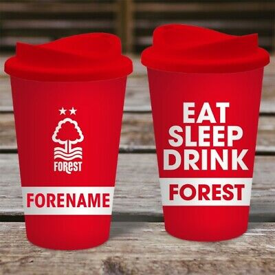 Personalised Nottingham Forest Travel Mug - Insulated Plastic Thermos Flask Cup