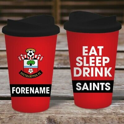 Personalised Southampton FC Travel Mug - Insulated Plastic Thermos Flask Cup