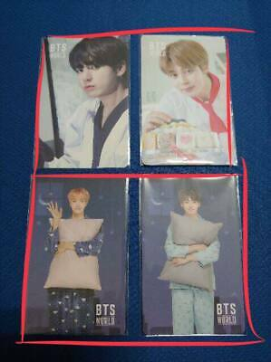 BTS World Ost Official Jimin Jungkook Jhope Game Coupon Photocard Unused