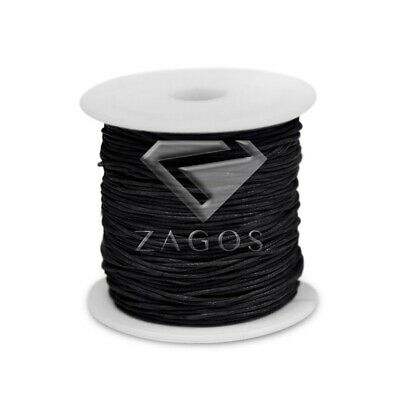 80m/Roll Waxed Cotton Cord Jewellery Making Beading Thread Thong 1x1mm Black