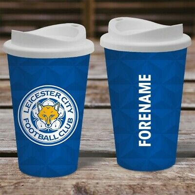 Personalised Leicester City Travel Mug - Insulated Plastic Thermos Flask Cup