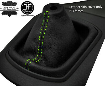 GREEN STITCHING FITS SAAB 9-3 1999-2002 MANUAL REAL LEATHER SHIFT BOOT