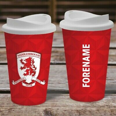 Personalised Middlesbrough FC Boro Travel Mug - Insulated Coffee Flask Cup
