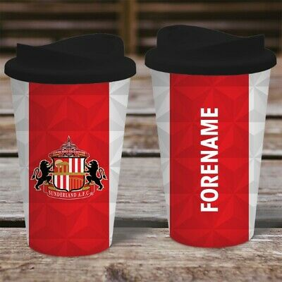 Personalised Sunderland AFC Travel Mug - Insulated Plastic Thermos Flask Cup