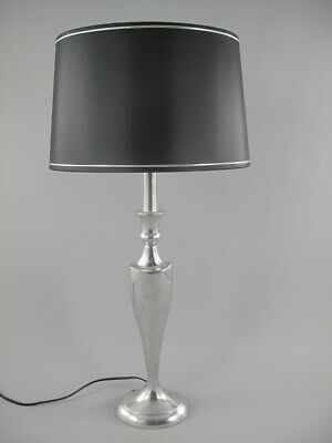Table Lamp, Polished Aluminium Lamp in 50er Years Look Designer Light 69 CM