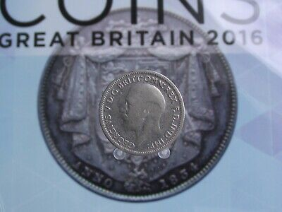 Great Britain George V Silver 6 Pence 1936