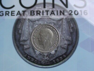 Great Britain George V Silver 6 Pence 1936 B
