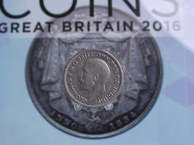 Great Britain George V Silver 6 Pence 1936 C
