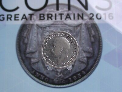 Great Britain George V Silver 6 Pence 1936 D