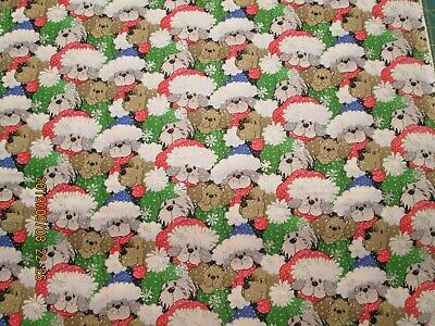 """DOGGIE LAND DOG PAWS 100/% COTTON NEW ADORABLE  36/"""" X 44/"""" VERY CUTE 4 YARD 1 LOT"""