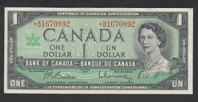 1967 Bank Of Canada  Replacement 1 Dollar Bank Note B/M
