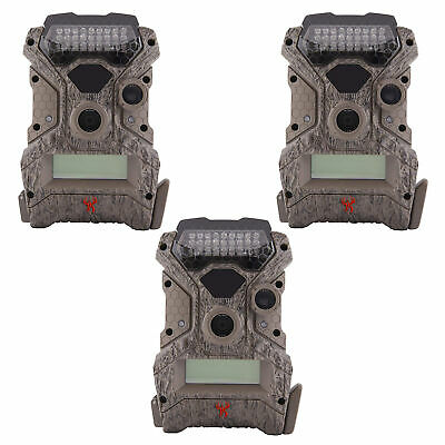 Wildgame Innovations Mirage No Glow 18 MP Hunting Trail Game Camera (3 Pack)