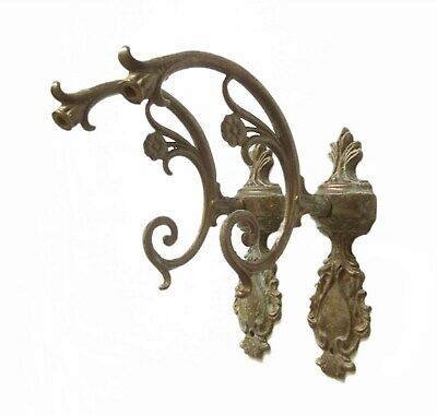 Brass Pair Ornate Wall Sconce Light Fixture Vintage Architectural Salvage