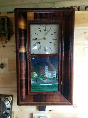 """Antique American """"Ogee"""" Wall Clock"""