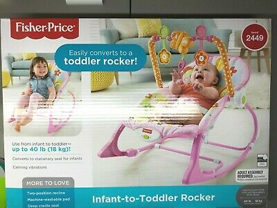 Fisher Price Infant To Toddler Baby Rocker Portable Sleeper, Pink Bunny Pattern