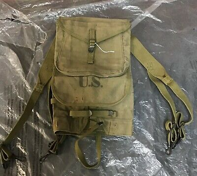 World War Two U.S. Army Standard Infantry M1928 Haversack Unissued Shape