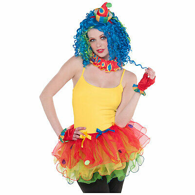 Adults Dress-Up Kit Sassy Clown Fancy Dress Outfit Accessory