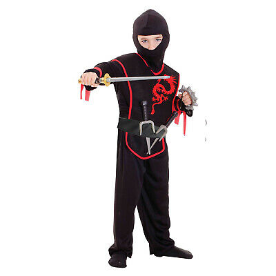 Boys Ninja Role Play Dress-Up Set Fancy Dress Outfit Accessory Age 3 - 5 Years