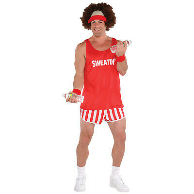 Adults Exercise Maniac Character Dress-Up Kit Mens Fancy Dress Outfit Accessory