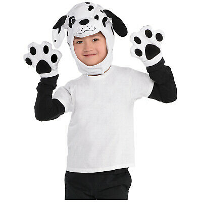 Childrens Dress-Up Kit Dalmatian Deluxe Child Fancy Dress Outfit Accessory