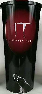 It Chapter 2 Cineplex Movie Theater Collector Cup W/ Topper Pennywise BLACK CUP