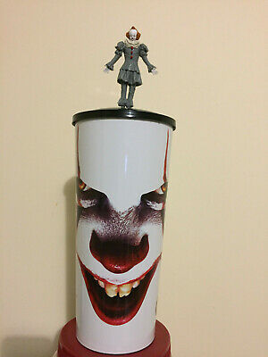 It Chapter 2 Cineplex Movie Theater Collector Cup W/ Topper Pennywise WHITE CUP