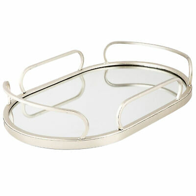 NEW Oval Art Deco Mirrored Tray - HighST.,Kitchen & Butler Trays
