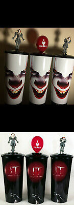 It Chapter 2 Cineplex Movie Theater Collector Cups W/ Topper Pennywise SET of 6