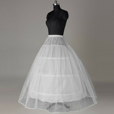 3 Hoops Petticoats for Wedding Dress Crinoline For Ball Gown Sz ND