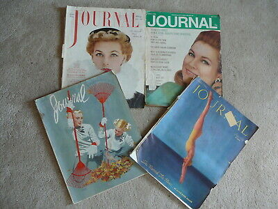 LADIES HOME JOURNAL MAGAZINE - 4 ISSUES 1936 to 1970 ADS SCRAPBOOKING LOT#67