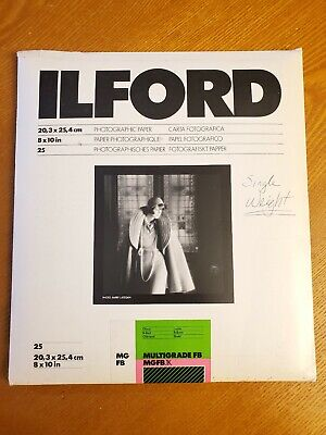 "ILFORD MG FB Multigrade 8X10"" Glossy Paper Photographic 17 Count MGFB.1K"