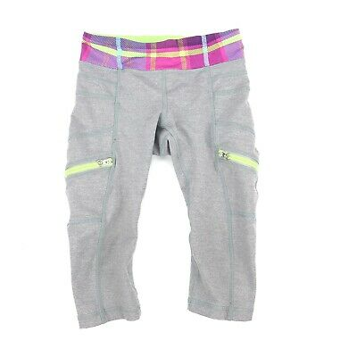 Kids Ivivva By Lululemon - Size 4 Crop Pants - In Very Good pre-owned condition
