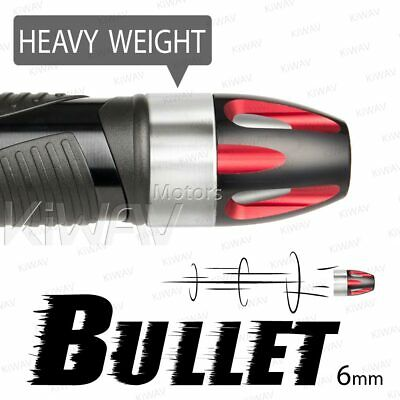 Aluminum bar ends Bullet red silver heavy base 6mm bolt-on for Piaggio BV X9