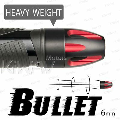 Aluminum bar ends Bullet red black heavy base 6mm bolt-on for Piaggio BV X9
