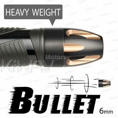 Bar ends Bullet champagne gold black heavy base 6mm bolt-on for Piaggio BV X9
