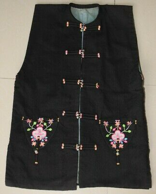 Vintage tribal exotic chinese minority people's local cloth hand embroidery vest